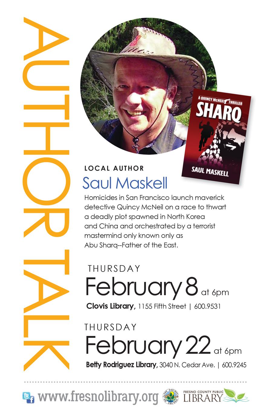 Author Talk: Saul Maskell