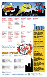 Teens Summer Reading Challenge June Calendar