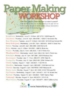 Paper Making Workshop, Adults