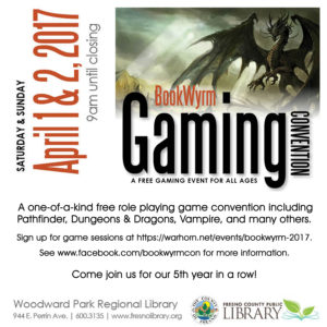 Bookwyrm Gaming Convention
