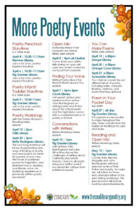 April Poetry Events