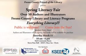 Fresno FOL Spring Literacy Fair flyer