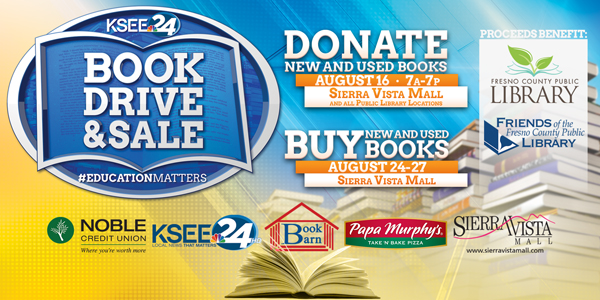 KSEE Book Drive and Big Book Sale!