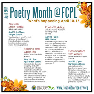 Poetry month events