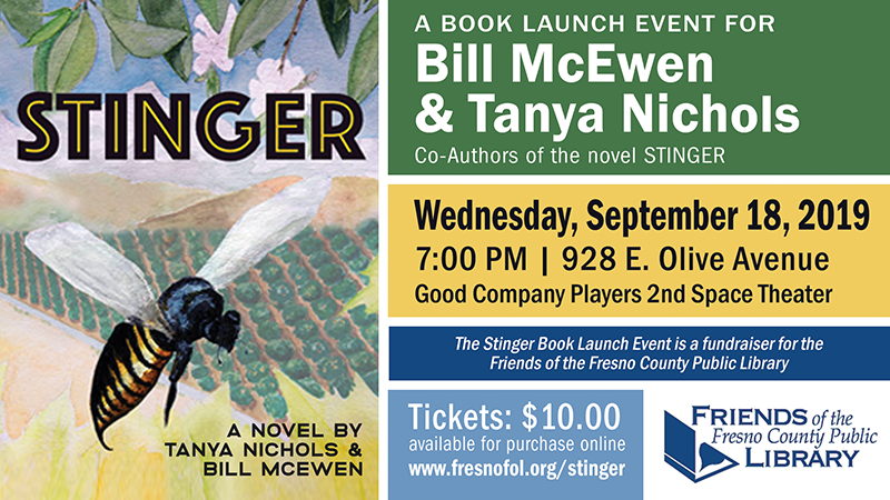 Book Launch Event for Stinger by Bill McEwan and Tanya Nichols