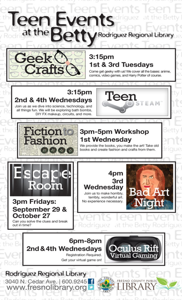 Teen Events at Betty Rodriguez